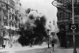 Smoke Filled Street after Aid Raid Photographic Print