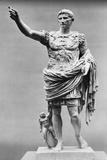 Augustus of Prima Porta Ancient Roman Statue Papier Photo