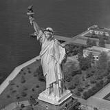 Aerial View of Statue of Liberty from Helicopter Photographic Print