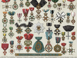 Forty German Medals Photographic Print