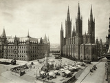 Marketplace in Wiesbaden in Germany Photographic Print