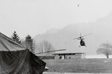 Military Helicopter during Search for Hijacker Photographic Print