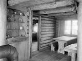 Inside View of Log Cabin Photographic Print by Philip Gendreau