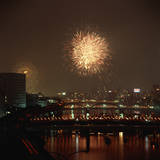 Fireworks over Sumida River Photographic Print by Masaharu Hatano