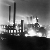 General View Industrial Plant at Night Photographic Print by Philip Gendreau