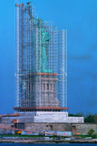 Scaffolding Covering Statue of Liberty Photographic Print
