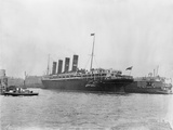 RMS Lusitania in New York Harbor Photographic Print
