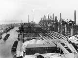 Gen View of Krupp Steel Mill on Water Photographic Print