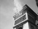 Smoke from Snipers atop Arc De Triomphe Photographic Print