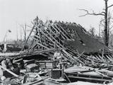 Tornado Torn Home Site Photographic Print