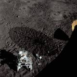 Cart and Antenna Shadow on the Moon Photographic Print