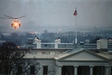 Helicopter Landing over White House Roof Photographic Print