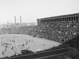 Aerial View of Harvard Yale Football Game Photographic Print