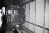Unmanned Subway Train in Tunnel Photographic Print