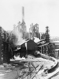 Blast Furnace at Steel Mill Photographic Print