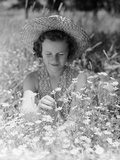 Girl in a Field of Daisies Photographic Print by Philip Gendreau