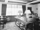 Interior of Home with Early Radio Photographic Print