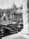 Cars Parking for Vatican Visit Photographic Print