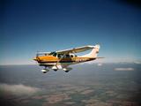 Cessna Superlobe Flying Photographic Print