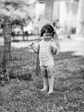 Girl Holding Parasol Photographic Print by Philip Gendreau