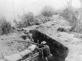 Soldiers Fighting from the Trenches Photographic Print