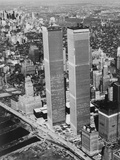 Lower Manhattan Showing the Twin Towers Photographic Print