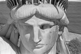 Detail of the Face of Statue of Liberty Photographic Print