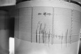 Reading of the University of California's Seismograph Photographic Print by Mike Hill