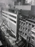 People Evacuating Museum during Fire Photographic Print