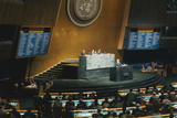 Andrei Gromyko Talking to United Nations General Assembly Photographic Print