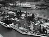 Overhead of Steel Manufacturing Plant Photographic Print