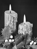 Christmas Candles with Holly Trim Photographic Print by Philip Gendreau