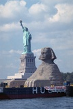 Giant Sphinx Replica and Statue of Liberty Photographic Print by Henny Abrams