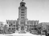 Exterior View of Beverly Hills City Hall Photographic Print
