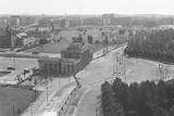 Rooftop View of Brandenburg Gate & Wall Photographic Print