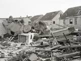 Car, Garage after A Tornado Ripped Thru Photographic Print