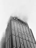 Empire State Building Burning after Plane Crash Photographic Print by Charles Seawood
