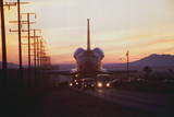 Trucks Towing the Shuttle Columbia Photographic Print by Bob Flora