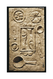 Roman Civilization, Relief Portraying Food Laid Out on Table, from Timgad, Algeria Giclee Print