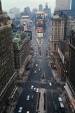 Aerial View of times Square Photographic Print