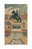 Louis XIV, 1638-1715, Erigee Place Des Victoires Giclee Print