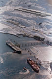 Aerial of Ships Docked in Port of Valdez Photographic Print