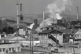 Steel Mill Smokestack,Smoke Billow;Pollu Photographic Print