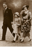 George, Elizabeth Bowes-Lyon and Princess Elizabeth Photographic Print