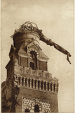 The Suspended Statue of Albert Cathedral, France, World War I Photographic Print