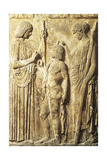 Bas-Relief Depicting Triad of Eleusinian Mysteries: Demeter, Triptolemus and Persephone Giclee Print