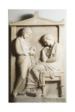 Greek Civilization, Funeral Stele from Piraeus Giclee Print
