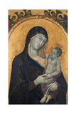 Madonna with Child and Six Angels, 1300-1305 Giclee Print