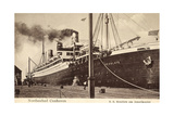 Cuxhaven, United States Lines, S.S. Resolute,Dampfer Giclee Print