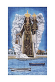 Madonna and Child, Painted Pottery Giclee Print